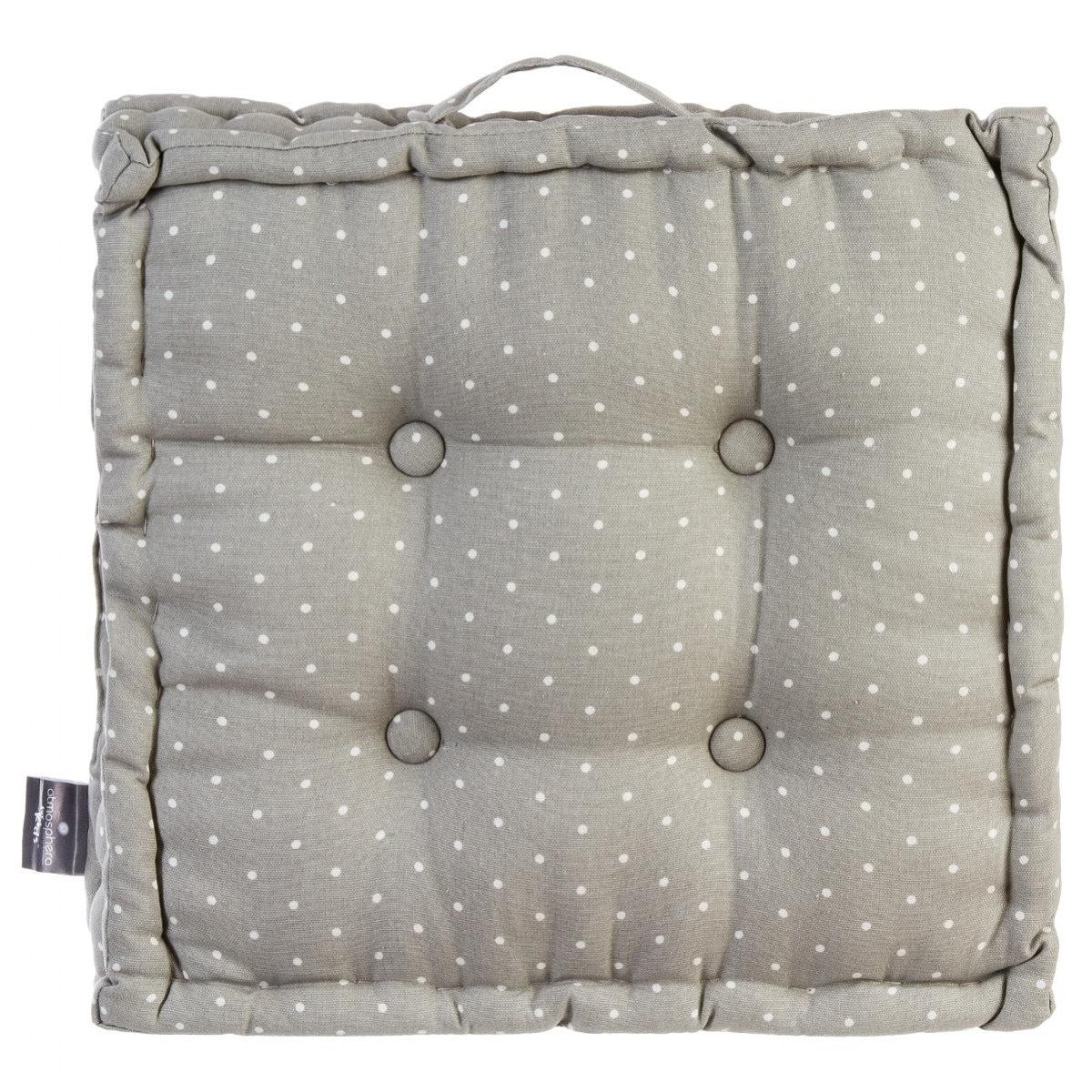coussin de sol gris 40x40x8cm les douces nuits de ma linge de maison. Black Bedroom Furniture Sets. Home Design Ideas