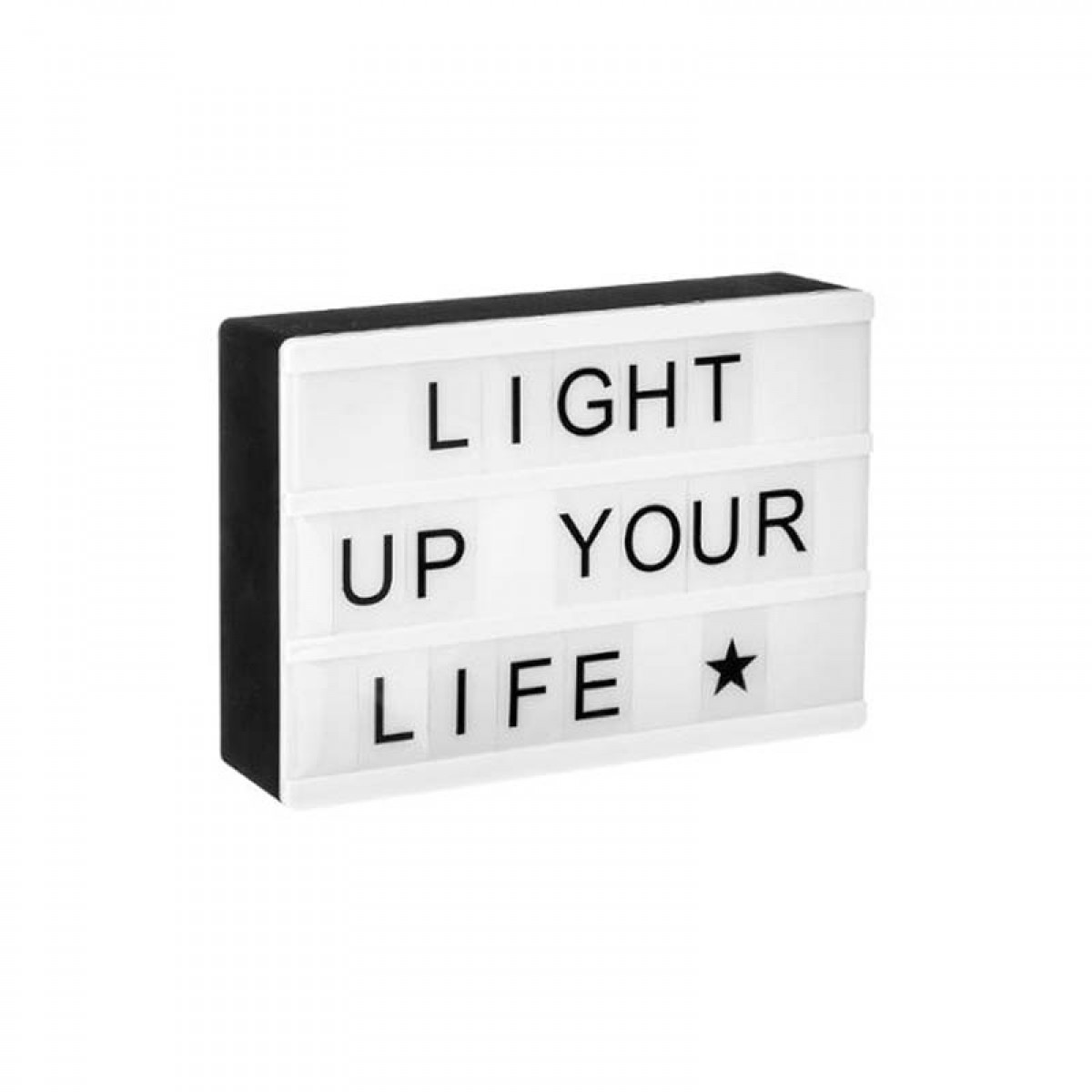 bo te led lumineuse messages magn tique les douces nuits de ma linge de maison. Black Bedroom Furniture Sets. Home Design Ideas