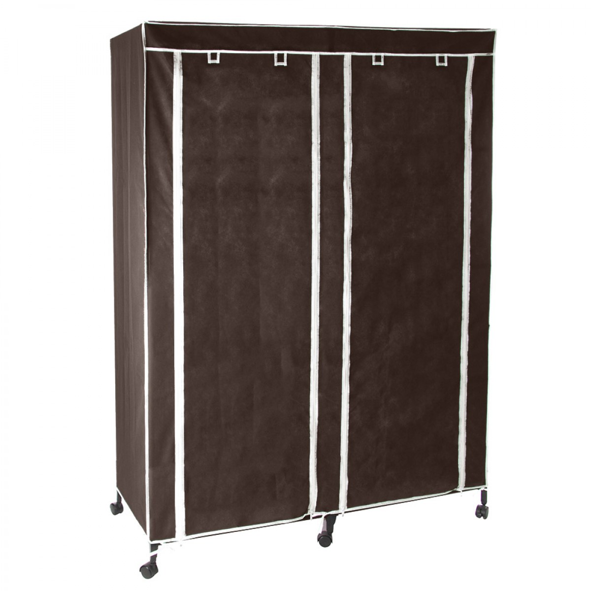 armoire double sur roulettes chocolat les douces nuits. Black Bedroom Furniture Sets. Home Design Ideas