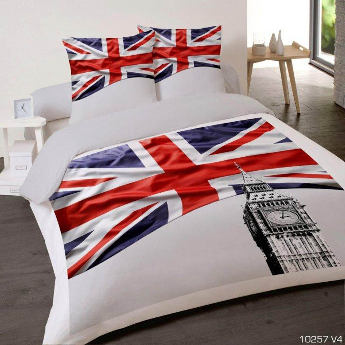 housse couette drapeau. Black Bedroom Furniture Sets. Home Design Ideas