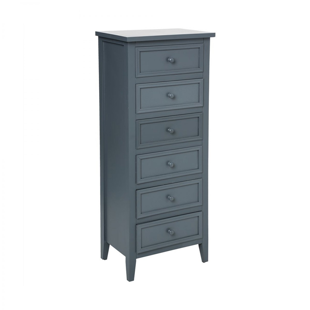 chiffonnier 6 tiroirs gris charme les douces nuits de ma linge de maison. Black Bedroom Furniture Sets. Home Design Ideas