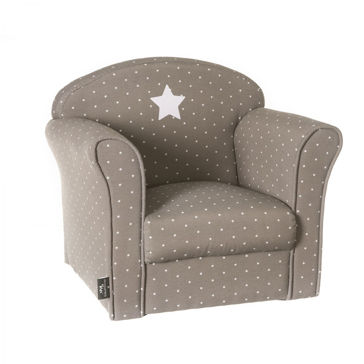 fauteuil taupe pour enfant les douces nuits de ma linge de maison. Black Bedroom Furniture Sets. Home Design Ideas