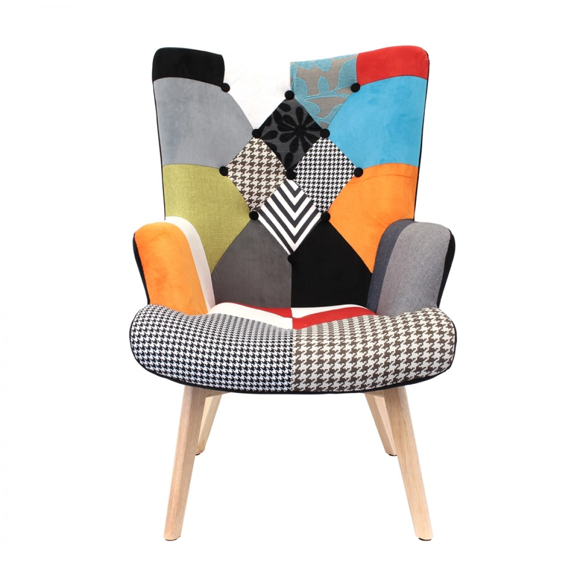 fauteuil helsinki patchwork les douces nuits de ma linge de maison. Black Bedroom Furniture Sets. Home Design Ideas
