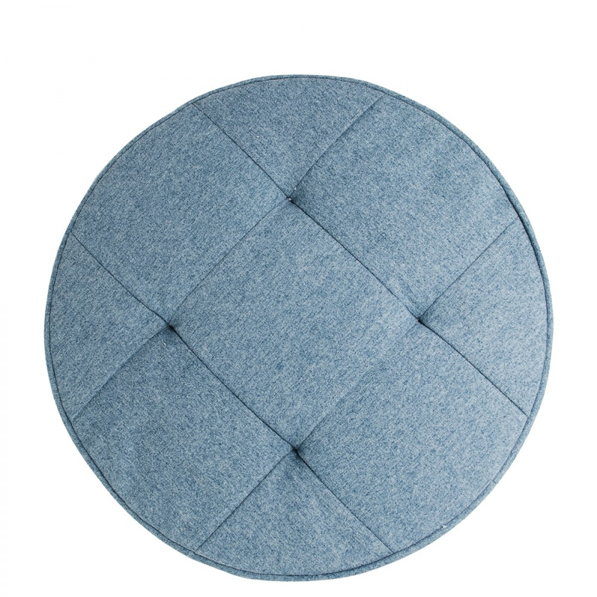 coussin de sol bleu rond 50 cm les douces nuits de ma linge de maison. Black Bedroom Furniture Sets. Home Design Ideas