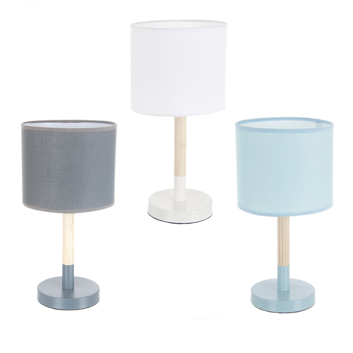 lampe naturelle scandinave bleue les douces nuits de ma linge de maison. Black Bedroom Furniture Sets. Home Design Ideas