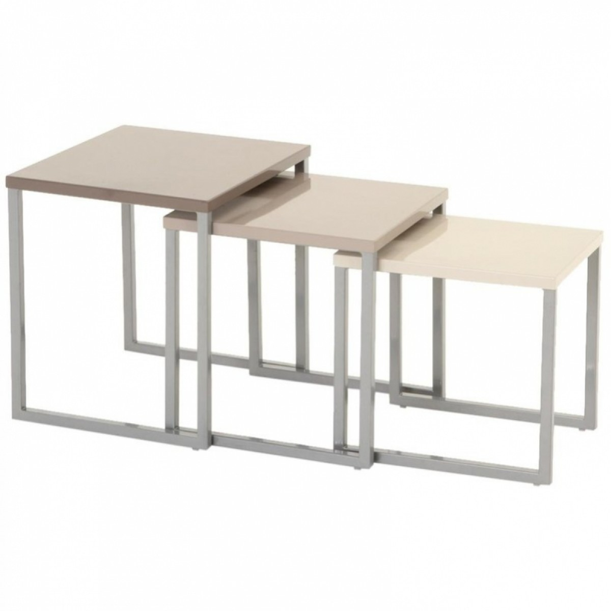 Lot de 3 tables basses gigognes les douces nuits de ma for Table exterieur 3 metres