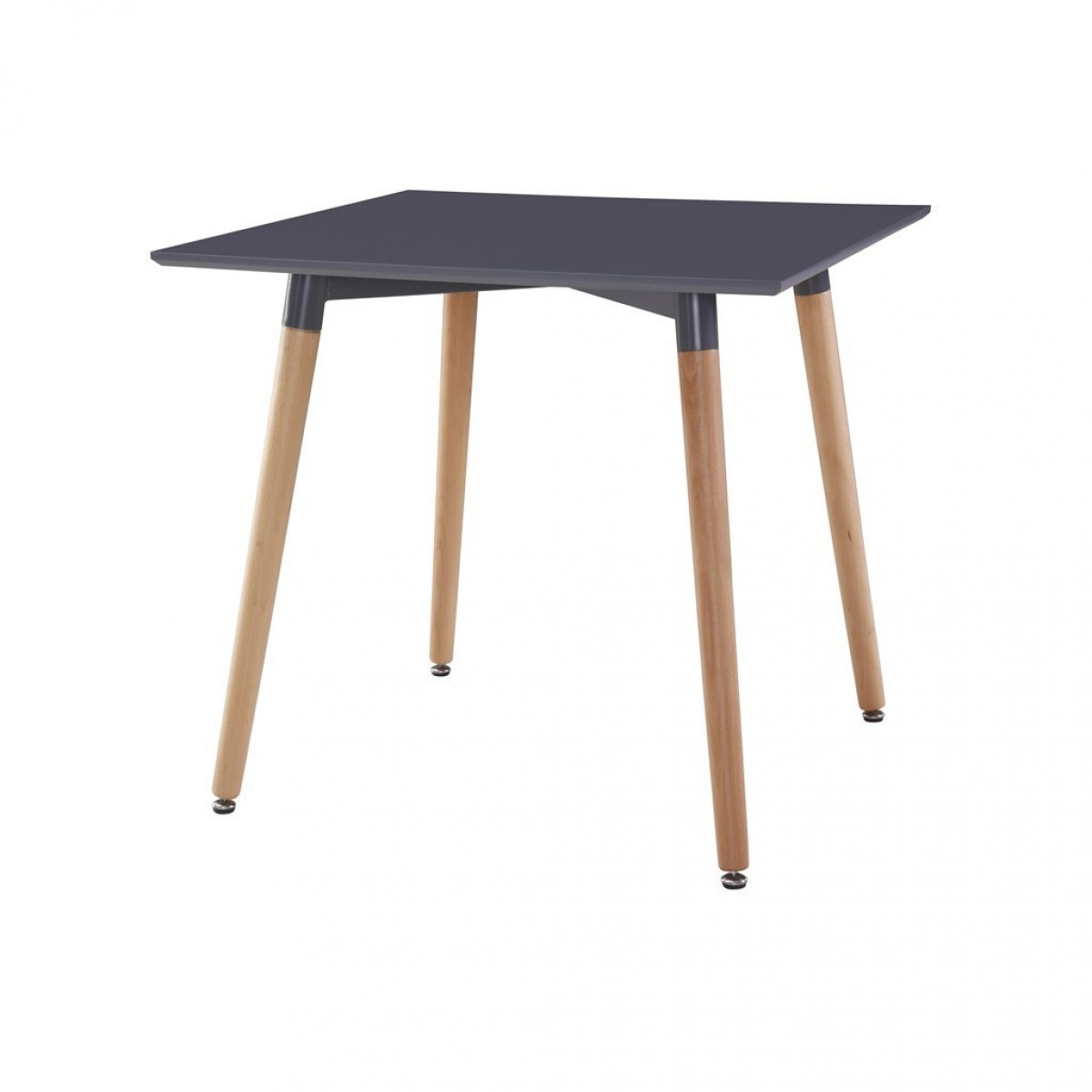 Table carr e scandinave grise les douces nuits de ma linge de maison - Table carree scandinave ...