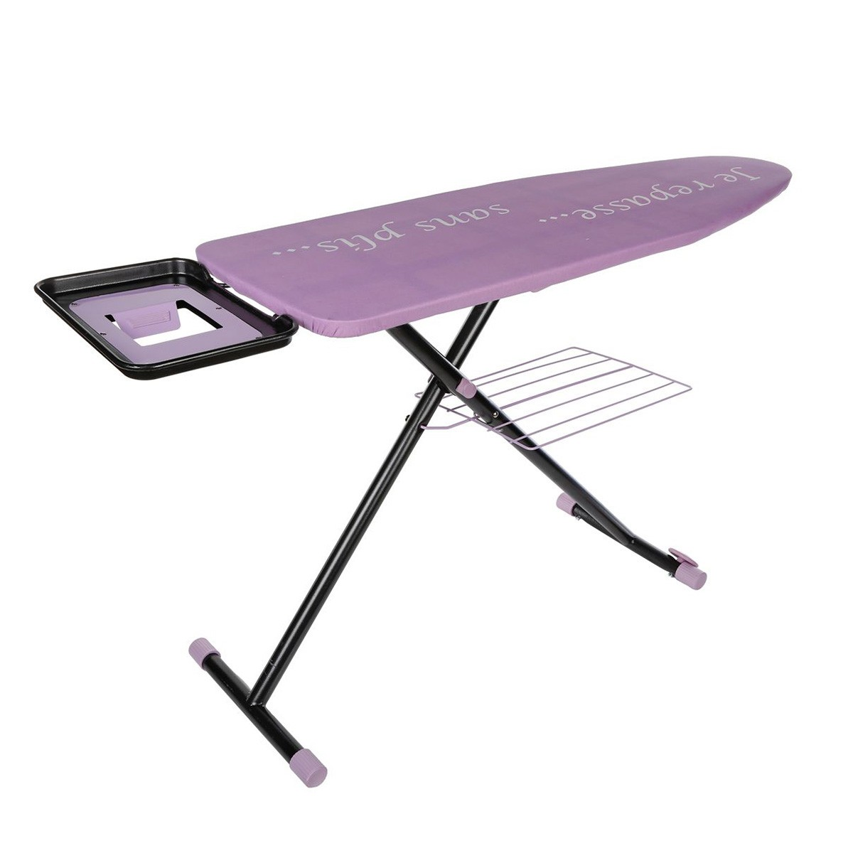 Table repasser diamant mauve roulettes les douces for Table a repasser