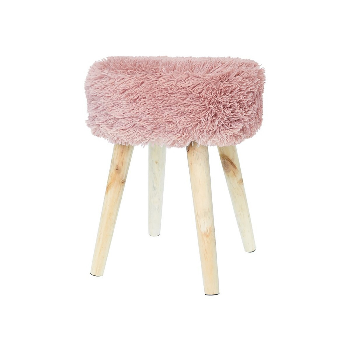 Pouf fausse fourrure eryka pouf fourrure blanc with pouf for Chaise zons