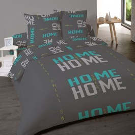 Housse de couette 220x240 HOME SWEET TURQUOISE