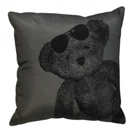 Coussin lulu bear anthracite 40x40cm