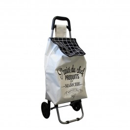 Chariot de shopping Welcome White