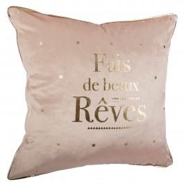Coussin 40x40 cm Rêves or