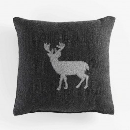 Coussin 40x40 caribou anthracite