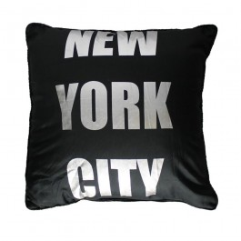 Coussin NY SILVER noir
