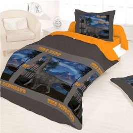 Housse couette 140X200 + 1 taie DINOSAUR KING