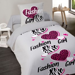 Housse de couette fashion girl
