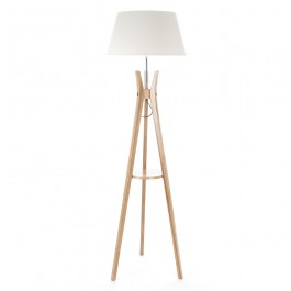 Lampadaire trépied tablette H156 cm