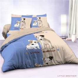 Housse de couette 220x240 + 2 taies LITTLE BROTHER