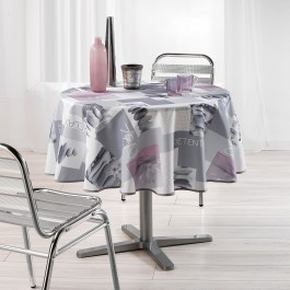 Nappe de table ronde Ø180cm Détente toucher soft