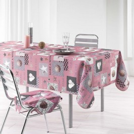 Nappe Starly rose en polyester 150x240