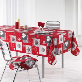 Nappe Starly rouge en polyester 150x300