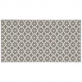 Tapis déco rectangle 80x150 tissé réversible Cemento