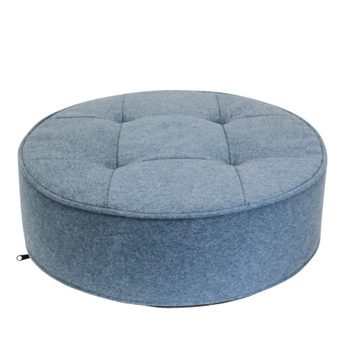 coussin de sol bleu rond 50 cm les douces nuits de ma. Black Bedroom Furniture Sets. Home Design Ideas