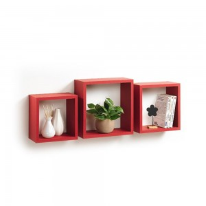 3 cubes gigognes rouge