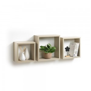 3 cubes gigognes taupe