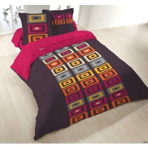 Housse couette 220x240 + 2 taies GEO