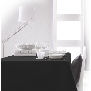 Nappe de table rectangulaire noir