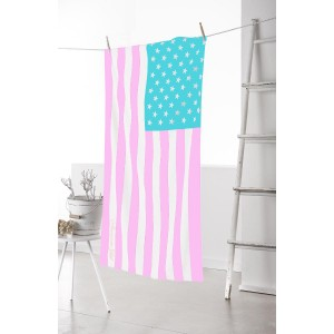 drap de plage drapeau américain version girly