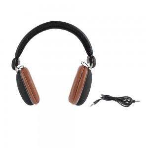 Casque audio quality marron