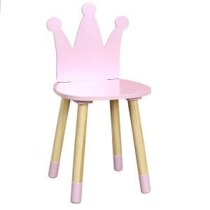 Chaise couronne rose