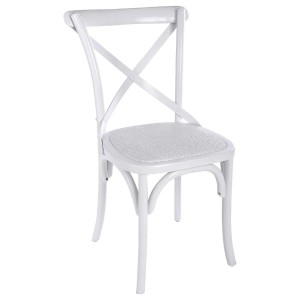 Chaise de bistrot LUSEL blanc