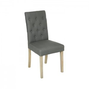 "Chaise canvas ""cleva"" de couleur gris"