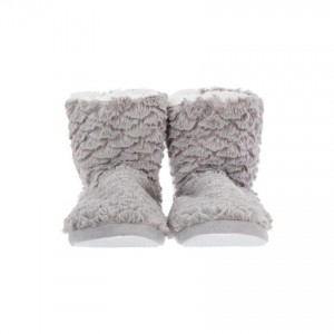 Chaussons fausse fourrure gris 36/37