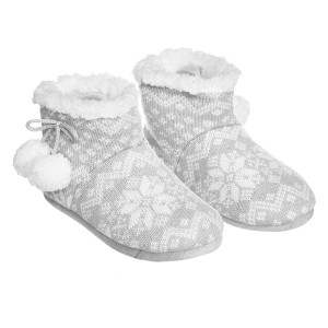Chaussons Hiver femme gris