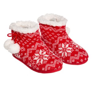 Chaussons Hiver femme rouge