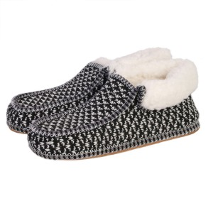 Chaussons Sherpa homme noir