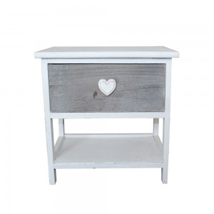Table de chevet Love blanc 1 tiroir