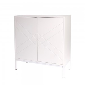Commode grise 2 portes