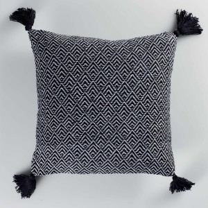 Coussin pois 40x40 cm Silver