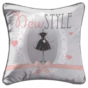 Coussin passepoil 40x40 cm microfibre New Style