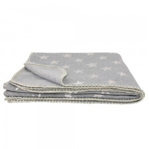 Plaid molleton 150x120cm gris clair