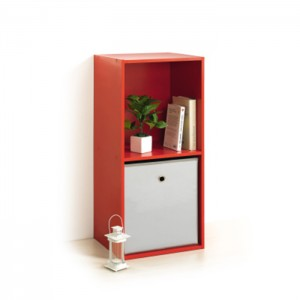 Meuble cube ROUGE 2 niches