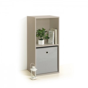 Meuble cube TAUPE 2 niches