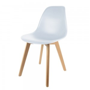 Chaise scandinave coque blanche