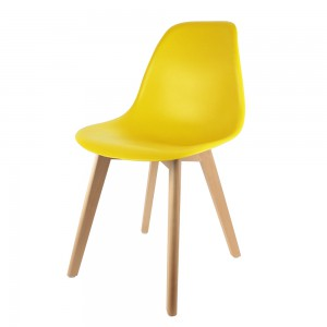 Chaise scandinave coque jaune